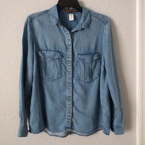 H&M Denim Button Down Shirt